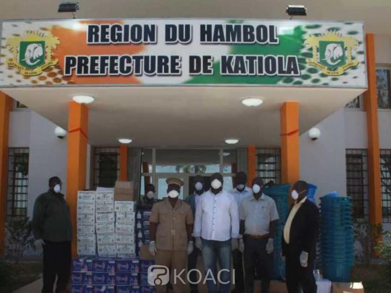 Côte d'Ivoire : Lutte contre le Covid19, Le Col-Major Touré Hervé (Vétcho) offre des kits de protection et de produits d'hygiène aux départements du Hambol