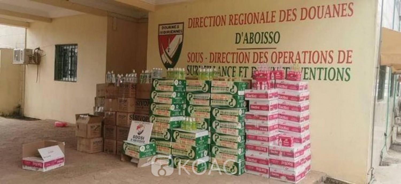 Côte d'Ivoire: COVID-19, trafic de gels hydro alcoolique vers le Ghana, 2525,120 litres interceptés à Aboisso par la douane