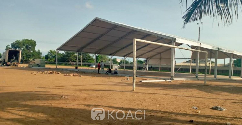 Côte d'Ivoire : Covid-19, après les manifestations à Yopougon, le centre de dépistage reconstruit