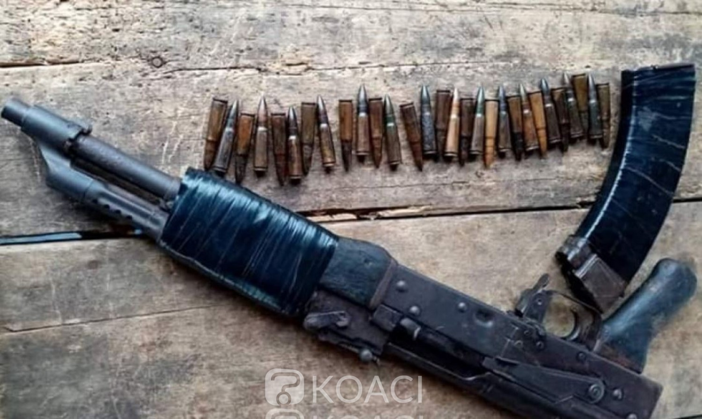 Côte d'Ivoire : À l'ouest une arme de guerre et des munitions saisies à un corridor