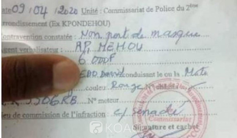Côte d'Ivoire : Le non port du masque contre le coronavirus sera-t-il verbalisé comme au Bénin ?