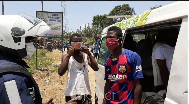 Côte d'Ivoire : Non-respect des mesures  barrières dans le transport,  la phase répressive débute cette semaine