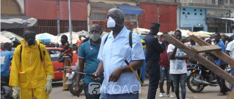 Côte d'Ivoire : Pour mettre fin au Coronavirus à Bouaké, les marchés pulvérisés par le Maire Djibo