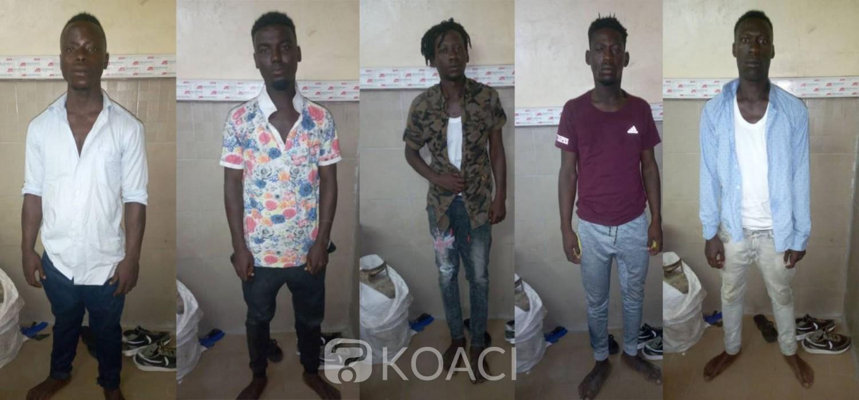 Côte d'Ivoire : 5 cambrioleurs arrêtés en flagrant délit dans un domicile d'Angré en plein couvre-feu