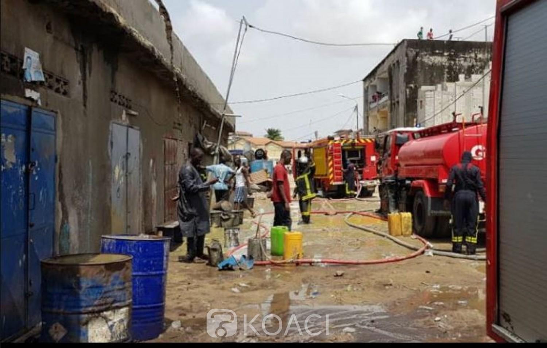Côte d'Ivoire : Koumassi, un incendie déclenché dans des  magasins de stockage clandestin, un mort