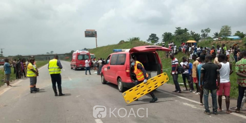 Côte d'Ivoire : A N'zianouan, collision entre un gros camion et un véhicule