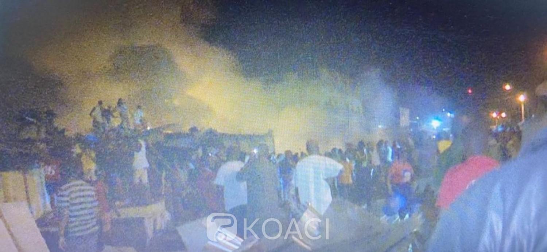 Côte d'Ivoire : Plusieurs magasins partent en fumée dans un incendie déclaré au Grand Marché de San Pedro
