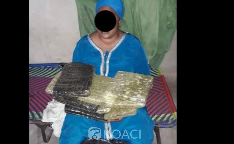 Côte d'Ivoire : Malienne, elle se fait prendre au corridor de Yamoussoukro avec des kilogrammes de cannabis