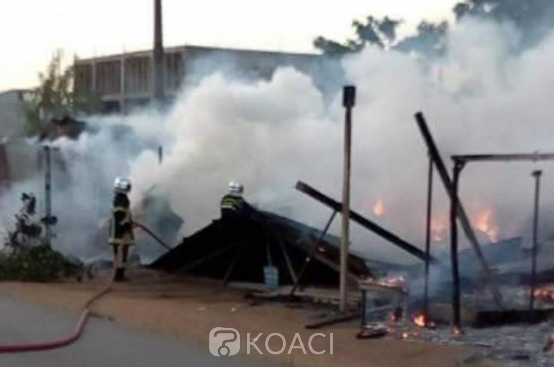 Côte d'Ivoire : Le marché artisanal de Grand-Bassam ravagé par un incendie
