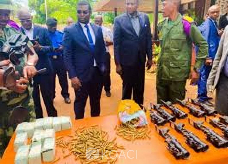 RDC : Saisie d'armes et de munitions de guerre à l'aéroport de Gbadolite, une femme d'affaire aux arrêts