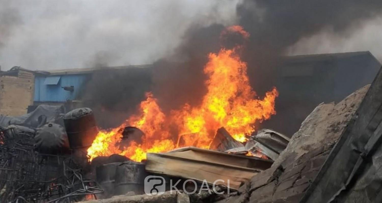 Côte d'Ivoire : Violent incendie à la zone industrielle de Yopougon suivi d'explosions