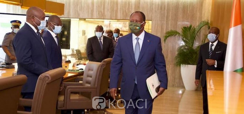 Côte d'Ivoire : Alassane Ouattara et son masque alternatif spécial « made in armée de Côte d'Ivoire »