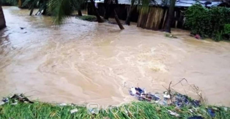 Côte d'Ivoire : Inondation à Duekoue, un homme et une femme enceinte emportés par les eaux, action de sauvetage des jeunes