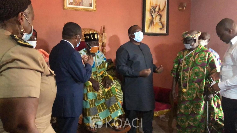 Côte d'Ivoire : Empêché, l'obstiné Adjoumani finit par être reçu par le roi de Daoukro qui lui offre deux béliers