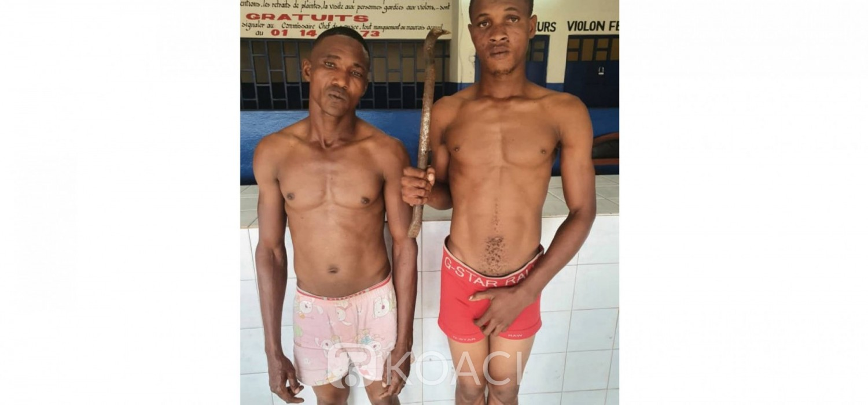 Côte d'Ivoire : Un présumé cambrioleur et son receleur vendeur de Garba interpellés à Abobo