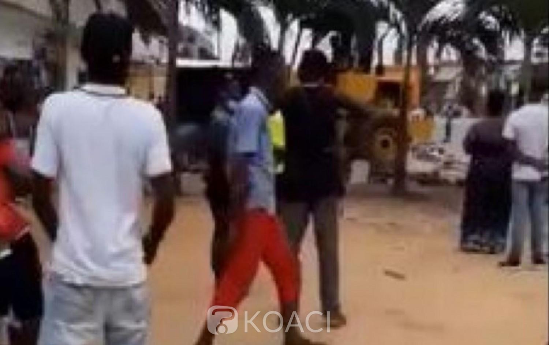 Côte d'Ivoire : Démolition des maquis et magasins au lieu de l'accident mortel à Cocody-Angré