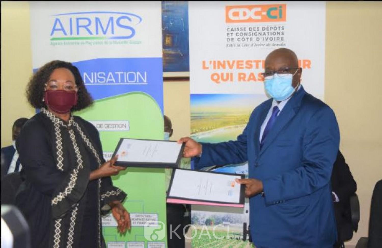 Côte d'Ivoire : Gestion des valeurs mobilières des sociétés et caisses mutualistes, la CDC-CI et l'AIRM s'engagent pour mutualiser leurs efforts