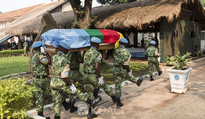 Cameroun-Centrafrique : Un casque bleu camerounais retrouvé mort à Bangui, la Minusca ouvre une enquête