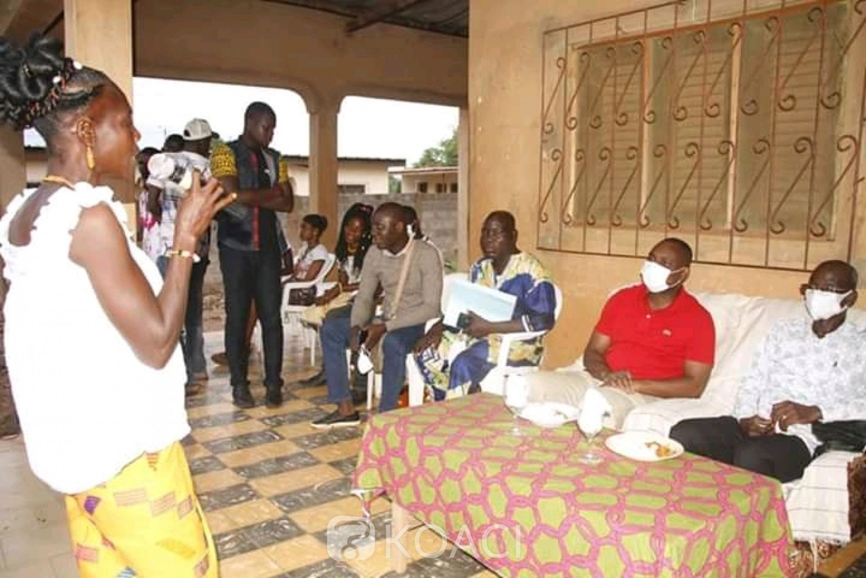 Côte d'Ivoire : Bouaké, pendant une séance de sensibilisation, des femmes du secteur vivrier s'engagent pour le RHDP