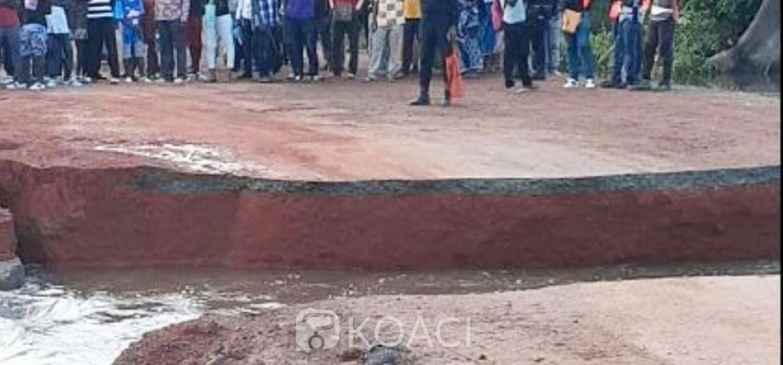 Côte d'Ivoire : L'axe Lakota-Divo inaccessible depuis dimanche suite aux pluies diluviennes