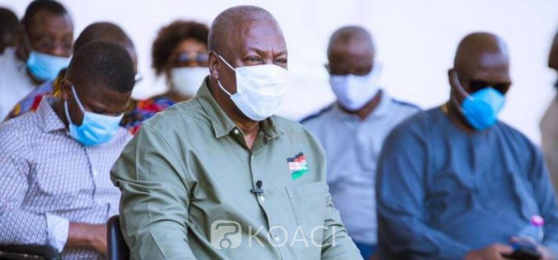 Ghana :  Présidentielle 2020, le candidat Mahama du NDC met en garde sur l'issue