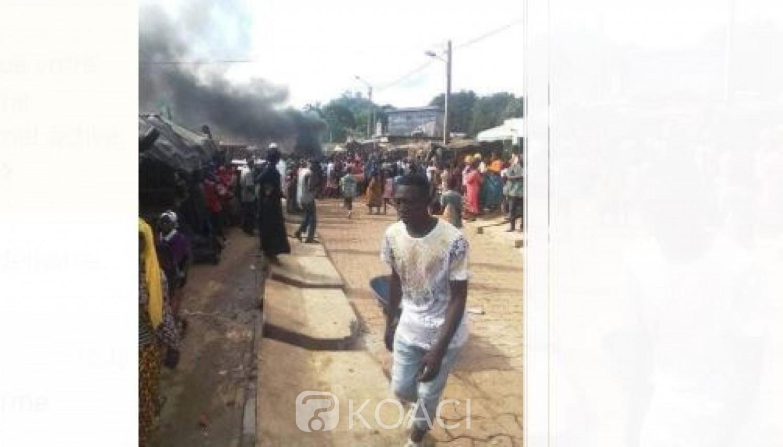 Côte d'Ivoire : Vives tensions à Man, mouvement de colère des commerçants à Man, routes barrées