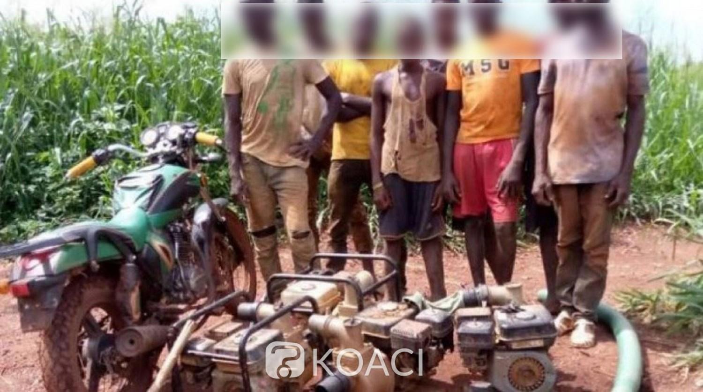Côte d'Ivoire : Interpellation d'une dizaine d'individus sur plusieurs sites d'orpaillage clandestin