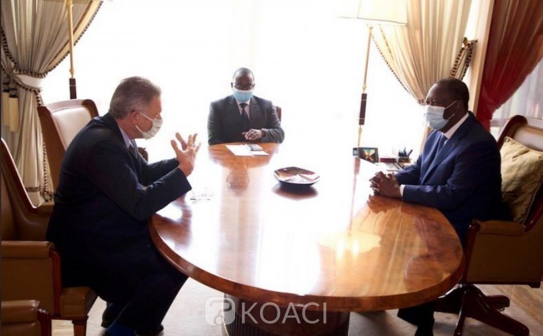 Côte d'Ivoire : En fin de mission, l'Ambassadeur Allemagne félicite Ouattara pour la bonne gestion du Coronavirus