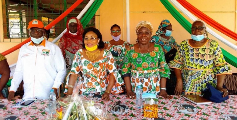 Côte d'Ivoire : Béoumi, galvanisant les femmes à s'enrôler,  Jeanne Peuhmond:« la campagne que nous allons faire est stratégique...»
