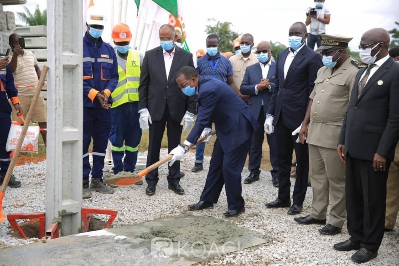 Côte d'Ivoire : Adzopé, trois membres du Gouvernement lancent les travaux d'extension du réseau électrique de la ville pour un montant de 2,2 milliards de FCFA, la fin des travaux annoncée en octobre