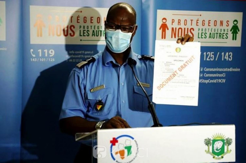 Côte d'Ivoire : Les précisions du porte-parole de la police sur la délivrance des Laissez-passer