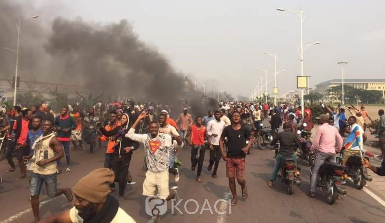 RDC : Chaude journée, les manifestants ont pénétré l'enclos du Palais  du peuple