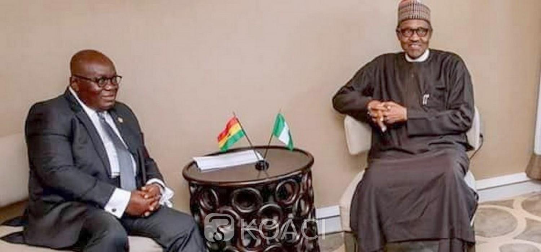 Ghana-Nigeria :  Akufo-Addo confère avec Buhari et désamorce une crise entre les deux pays