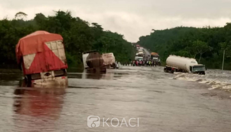 Côte d'Ivoire : Pluies diluviennes, la côtière Abidjan-San-Pedro, coupée en deux à 25 Km après Grand-Lahou
