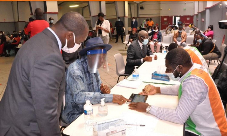 Côte d'Ivoire : Grand engouement  autour de la révision de la liste électorale en France