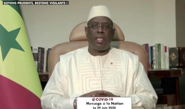 Sénégal : Le président Macky Sall annonce la fin de l'état d'urgence et invite ses compatriotes à préparer l'ère post Covid-19