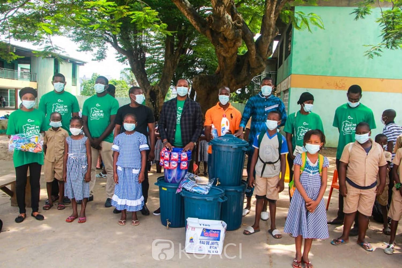 Côte d'Ivoire : Solidarité, des établissements soulagés  en kits sanitaire par « Ma Côte d'Ivoire Mon Tout»