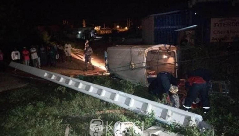 Côte d'Ivoire : Drame, à Bondoukou, une ambulance transportant un malade heurte un poteau et se renverse, un mort et des blessés
