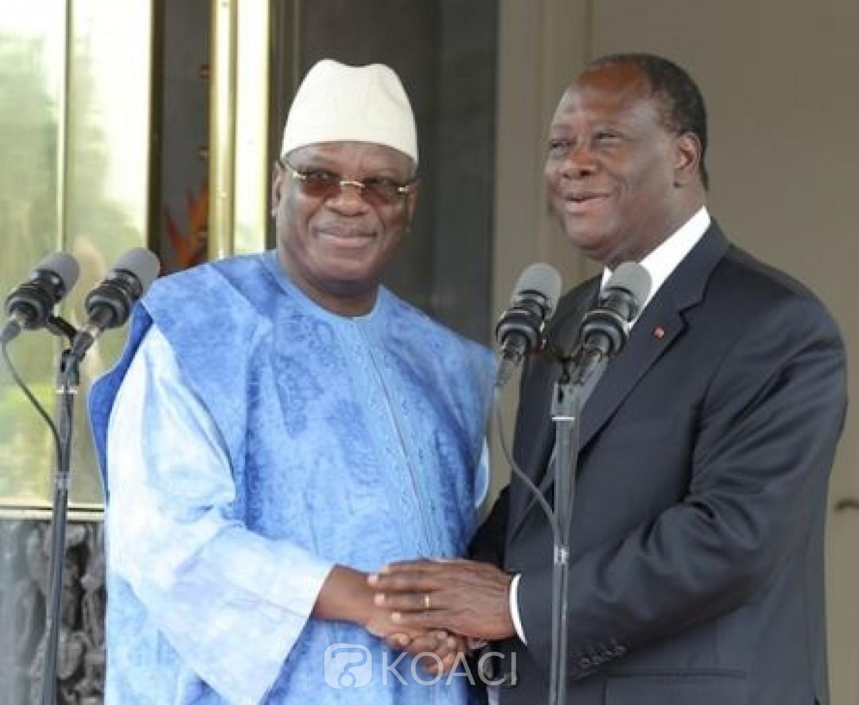 Côte d'Ivoire-Mali : Ouattara et trois  chefs d'Etat annoncés jeudi à Bamako pour tenter de trouver une issue à la crise socio-politique