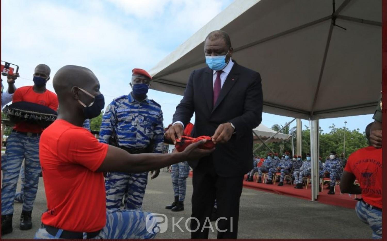 Côte d'Ivoire : Hamed Bakayoko aux nouveaux commandos gendarmes: « Soyez déterminés dans votre action au service de la nation »