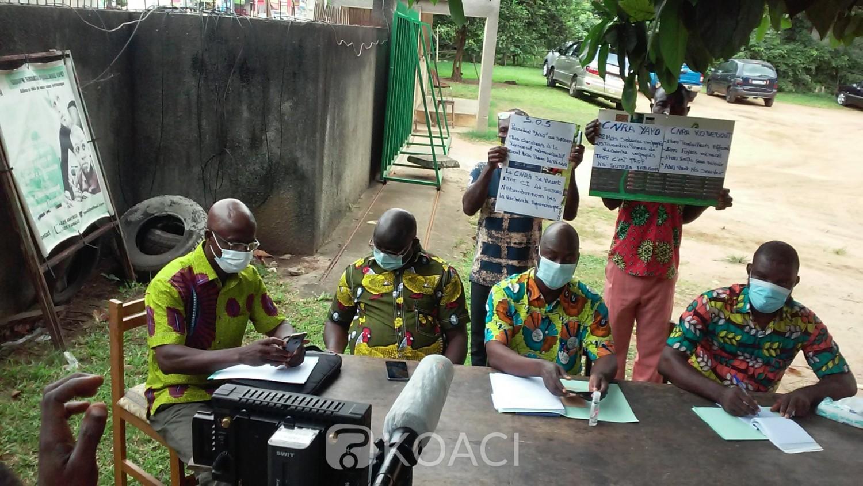 Côte d'Ivoire : CNRA, les travailleurs en grève pour réclamer le paiement des arriérés de salaires et primes de recherche