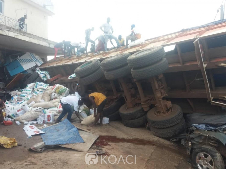 Côte d'Ivoire: Bouaké, dans une manœuvre destructrice, un routier occasionne un mort et des blessés