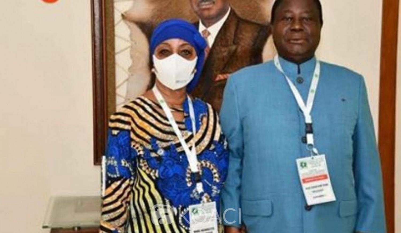 Côte d'Ivoire : PDCI, convention éclatée, après son vote, Bédié soutient qu'il est candidat pour améliorer les conditions « des nouvelles générations »
