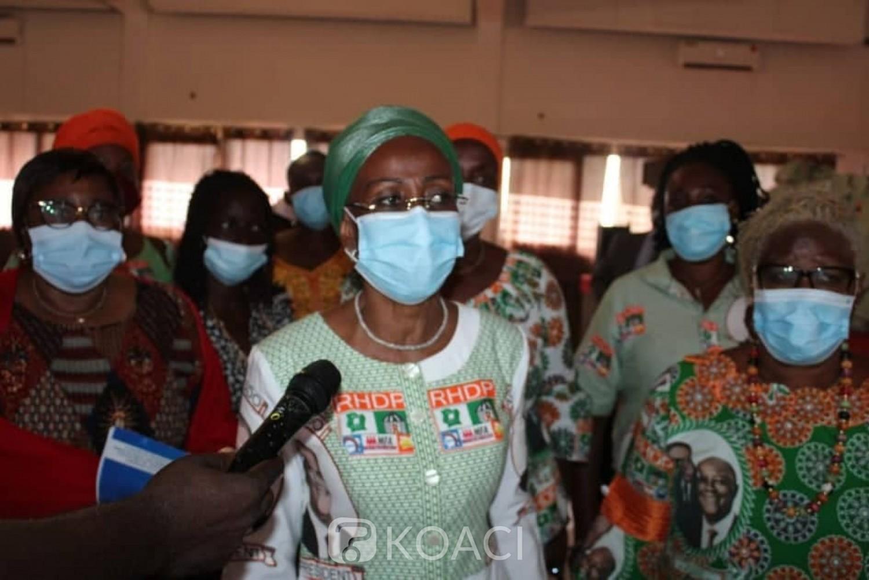 Côte d'Ivoire : RHDP, parrainage du candidat, Ly Ramata aux femmes du N'zi « Allez partout pour avoir le maximum de signatures d'électeurs»