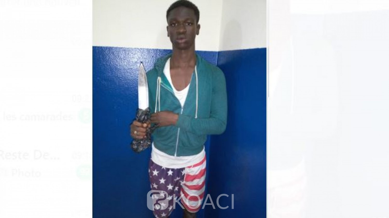 Côte d'Ivoire : A Abobo, un élève interpellé alors qu'il tentait à l'aide d'un couteau de dépouiller un riverain