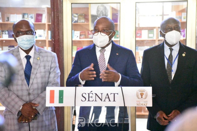Côte d'Ivoire : Quatre projets de lois organiques présentés par Sansan Kambilé adoptés par le Sénat avant l'Assemblée nationale