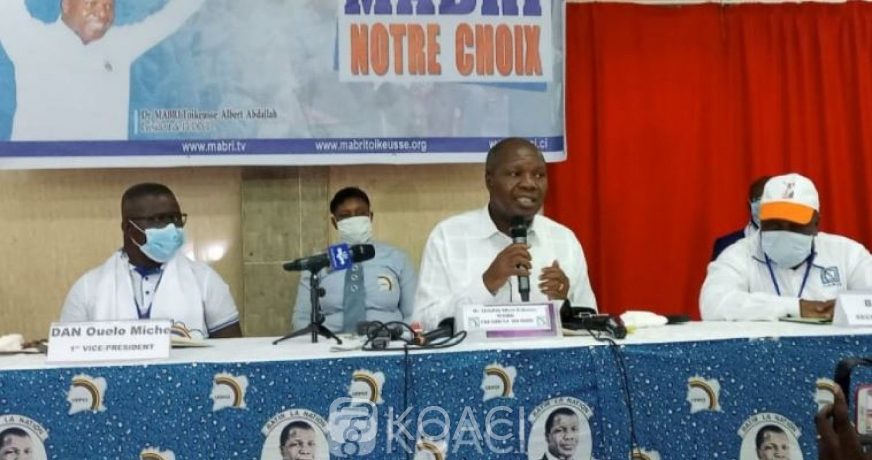Côte d'Ivoire : UDPCI, Mabri candidat, son parti annonce officiellement son retrait du RHDP