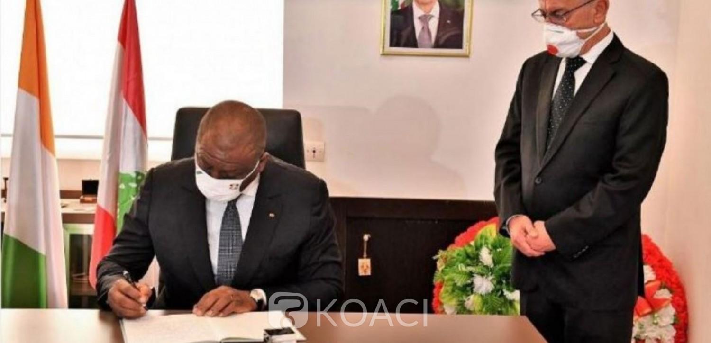 Côte d'Ivoire-Liban : Le PM Hamed Bakayoko exprime la solidarité du Gouvernement au peuple Libanais
