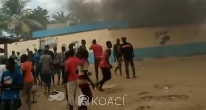 Côte d'Ivoire : La protestation contre la candidature de Ouattara dégénère à Bonoua, un mort annoncé, le commissariat attaqué