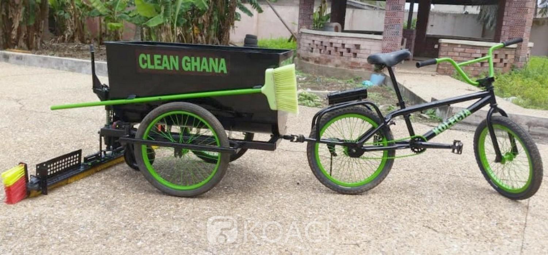 Ghana :  Invention d'un « vélo de balayage »